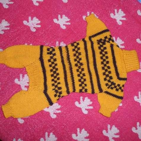 Красивый нарядный вязаный комбинезон для той-терьера, чихуахуа,йорка