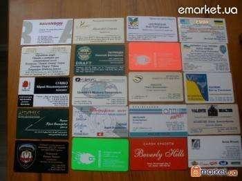 Визитки, печать визиток, объемный шелкотрафарет