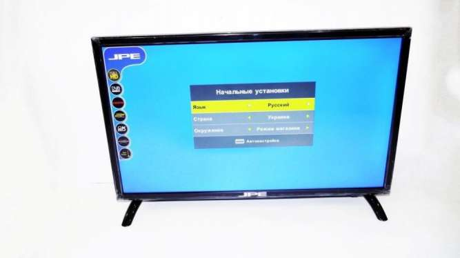 "LCD LED Телевизор JPE 22"" Full HD DVB - T2 12v/220v HDMI IN/USB/VGA"