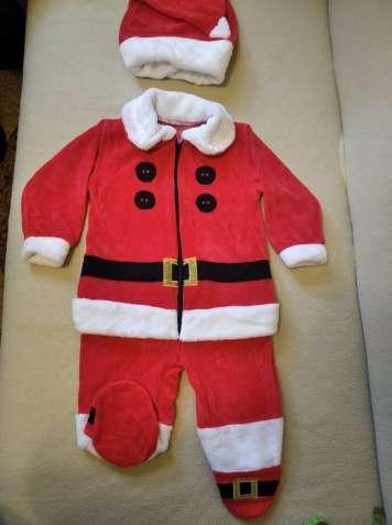 Продам детский новогодний костюм Санта Клауса на возраст до 6 месяцев
