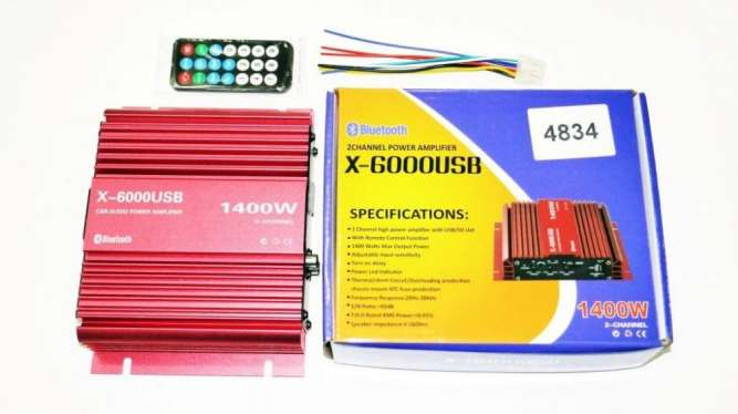 Усилитель X-6000USB - Bluetooth, USB,SD,FM,MP3! 1400W 2х канальный