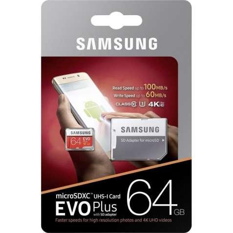 Карта памяти microSDXC 64 Gb Samsung EVO
