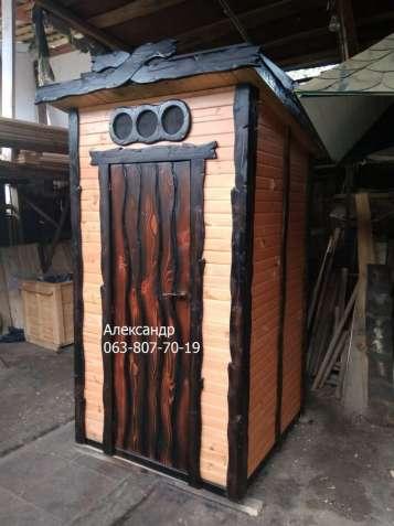 Деревянный туалет под старину №2 дачный ( для дачи из дерева )