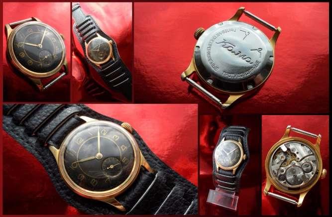 ВИНТАЖНЫЙ ГАДЖЕТ 60-х. часы ЗОЛОЧЁННЫЕ «КАМА» мужские, механика СССР