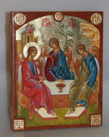 Писаная икона «Троица»