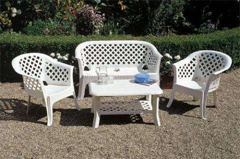 Мебель садовая, парковая из лозы, алюминия, пластика