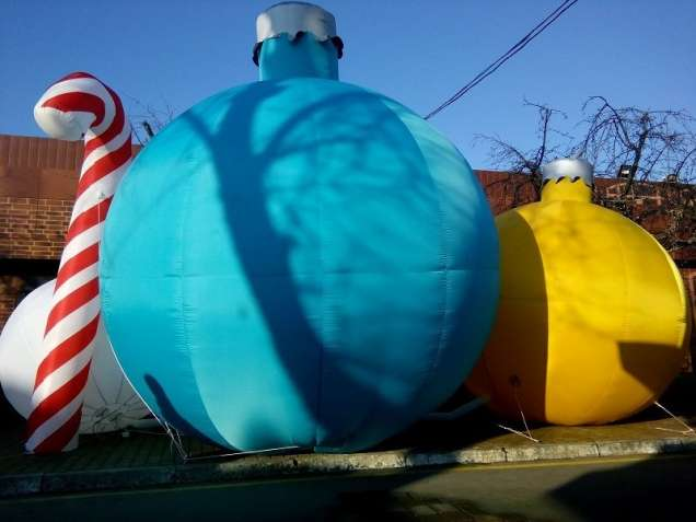 Новогодние пневмодекорации от украинского производителя