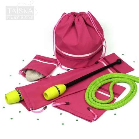 Набор чехлов для гимнастических предметов «Фрезовый» 4 чехла