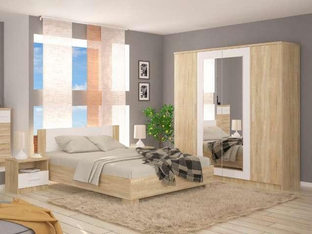 Спальня Маркос. Кровать, шкаф, прикроватные тумбы