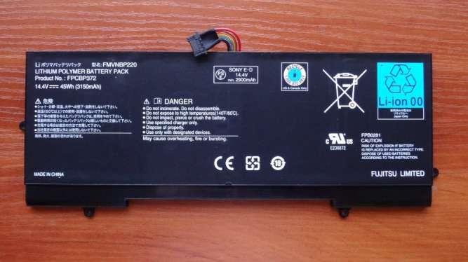 Оригинальная батарея / аккумулятор Fujitsu Lifebook U772 FPCBP372 45Wh
