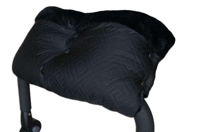 Муфты на меху из стеганой плащевки