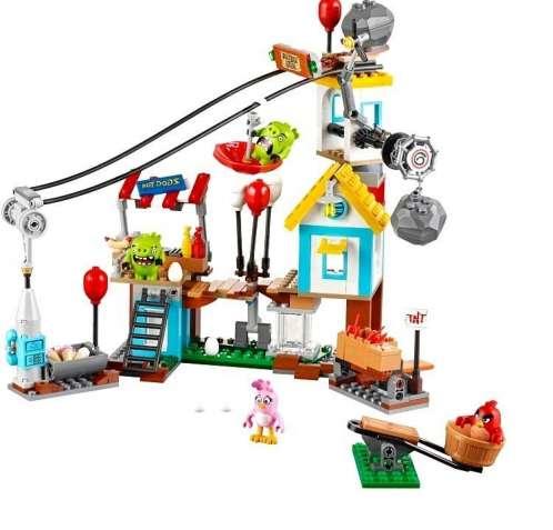 """Конструктор Lepin """"Angry Birds"""" 19004 Разгром Свинограда"""