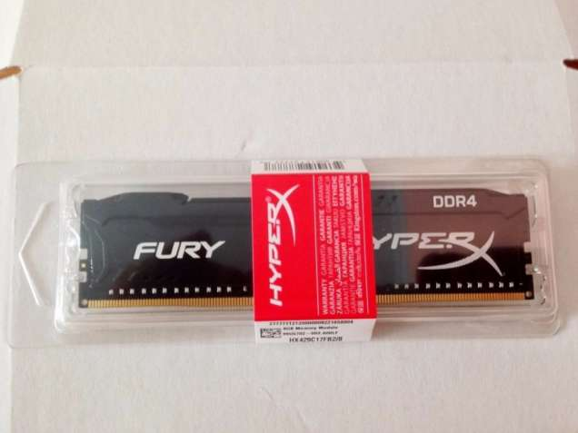 Память ОЗУ Kingston 8 GB DDR4 2933 MHz HyperX Fury Black HX429C17FB2/8