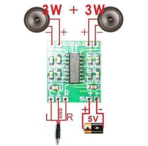 Плата для колонки схема микросхема аудио