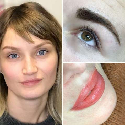 Перманентный макияж Акция!!! Пудровые брови губы межресничка
