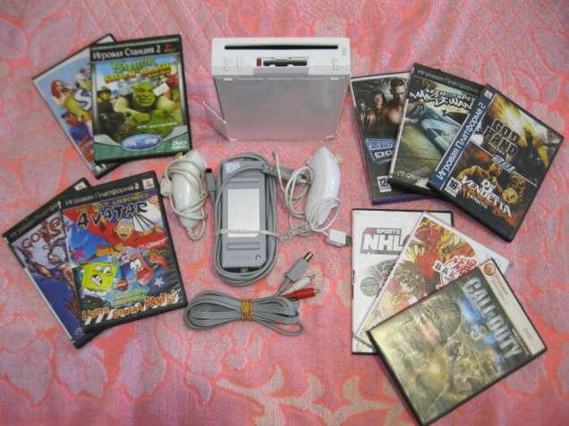 Игровая приставка Nintendo Wii RVL-001 белая б/у