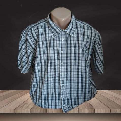 Летняя мужская рубашка в клетку хлопок Bison 3XL