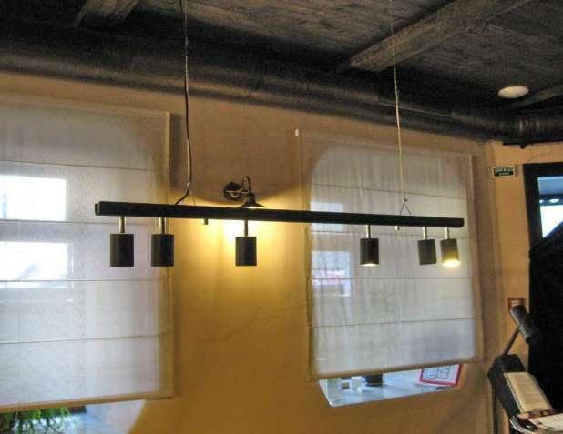 Подвесной светильник 6 поворотных спотов