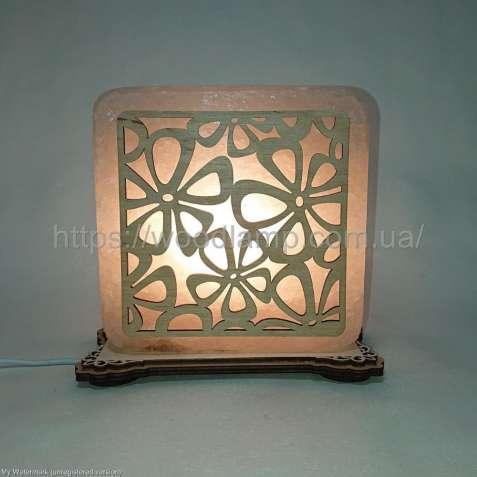 Соляной светильник квадратный Ромашки, соляная лампа, ночник