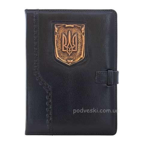 Кожаный ежедневник Герб Украины