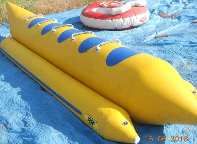Водный аттракцион - Банан (5мест), Шайба (2 места) + 5 спас жилетов!