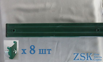 Столб 4.0м 60х80 для спорт площадки крепления Классик в комплекте