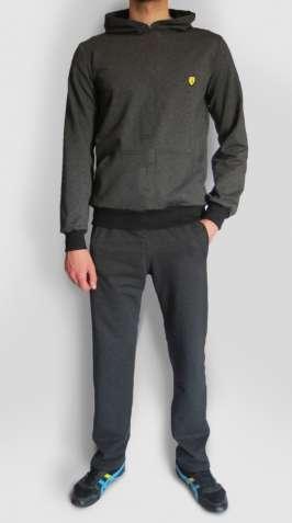 Чоловічий спортивний костюм з кофтою худі (М, L, XL, XXL| Темно-сірий)