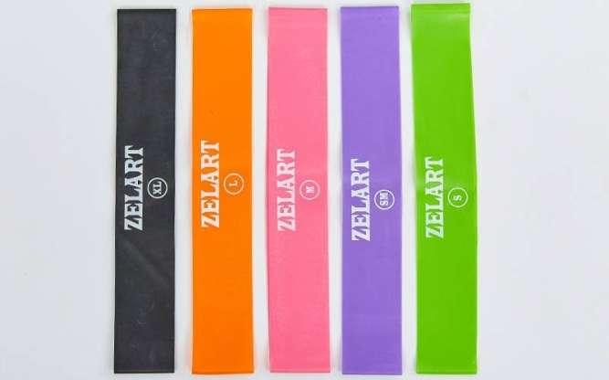 Ленты сопротивления комплект Zelart / Резина для фитнеса / Resistance