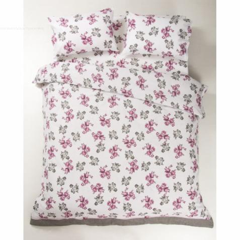 Постельное белье Lotus Ranforce - Patrice розовый евро