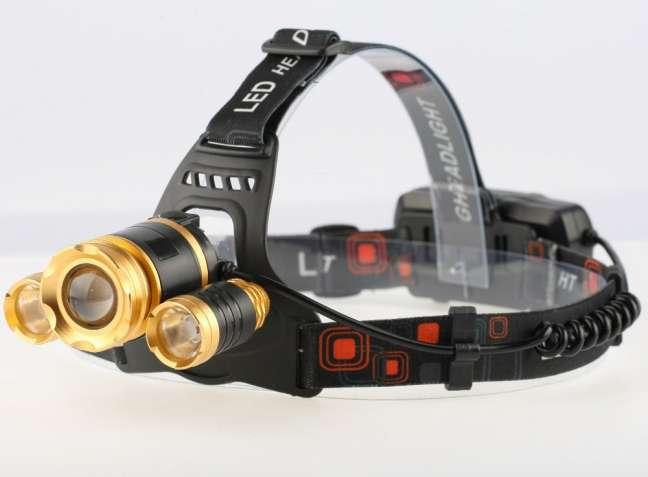 Налобный водонепроницамый LED фонарь | Отличная вещь для туристов