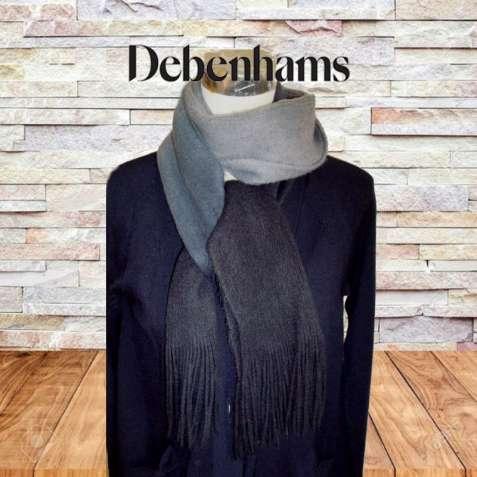 Debenhams 100% акрил Теплый длинный женский шарф градиент Англия