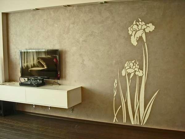 Декоративная, фактурная, венецианская штукатурка. Эффект бетона, шелка