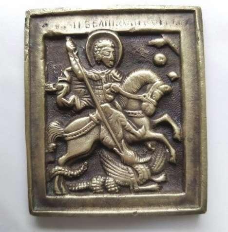 православная меднолитая иконка