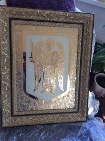 Икона фреска в позолоте (солидный подарок)