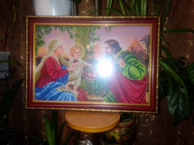 Картина Святое семейство бисером