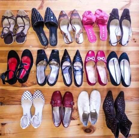 Разгружаю шкаф. Обувь женская