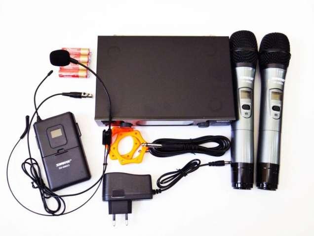 Радиосистема Shure SH-600G3 база 2 радиомикрофона + гарнитура