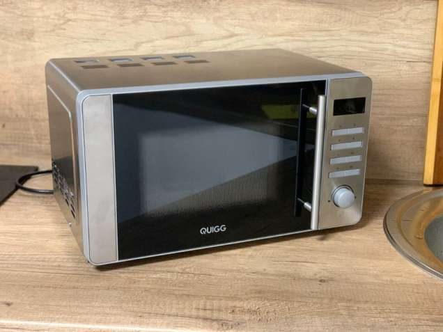 Новая микроволновая печь из нержавеющей стали Quigg MD 18666 (Германия - изображение 5