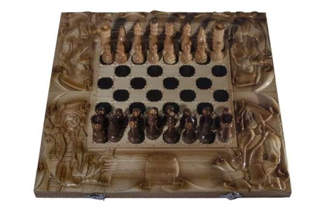 "Шахматный набор ""Корсары"" 3 в 1 (шахматы, нарды, шашки)"