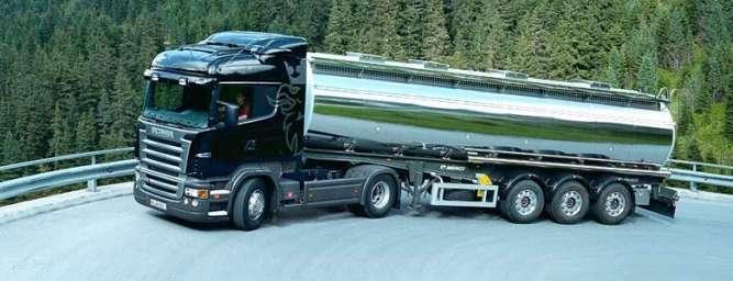 Перевозка автоцистернами наливных грузов.