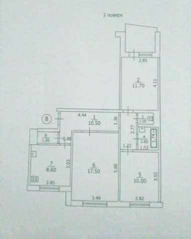 3 комн. квартира на Даманском  2\9 в середине дома