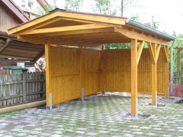 Деревянный навес, шатер, веранда, терраса