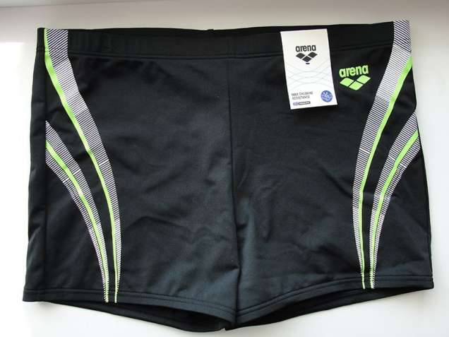 Плавки-боксеры Arena M Spaced Short (Черные с полосками)
