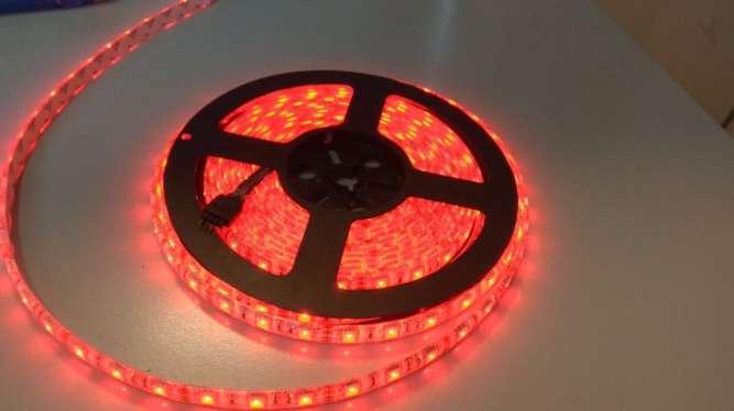 Стрічка світлодіодна 5 м RGB SMD5050 12В 60 діодів/метр водостійка