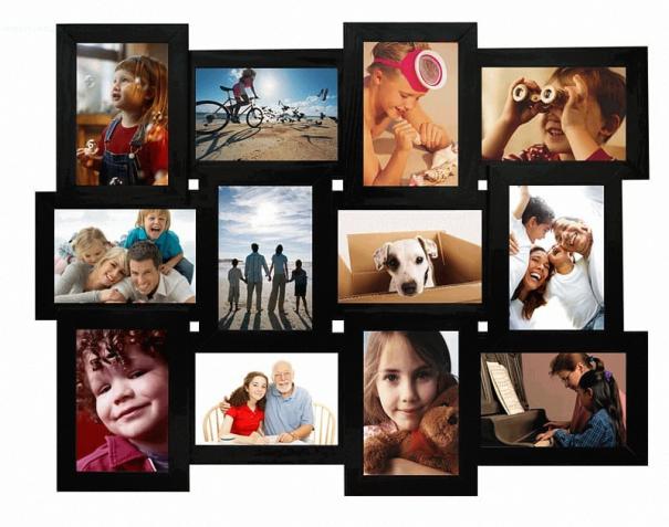 Деревянная мультирамка рамка фоторамка коллаж 12 фотографий 10х15 см