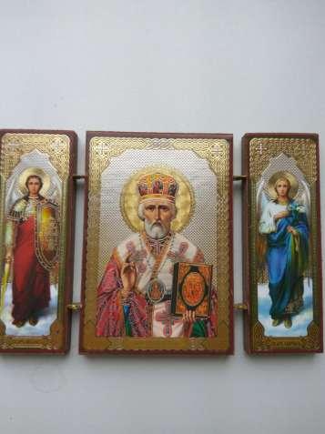 Складная икона Николай Чудотворец из Иерусалима