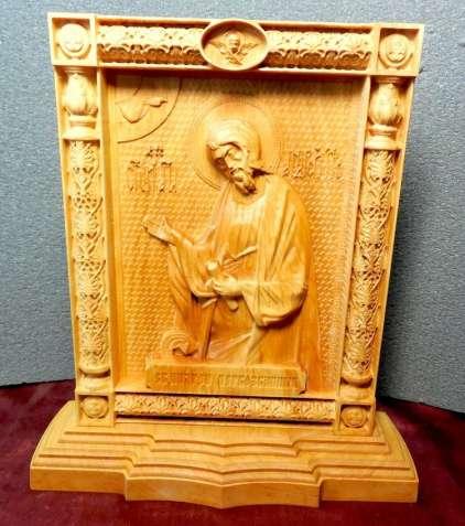 Икона Андрей Первозванный на постаменте (под заказ)