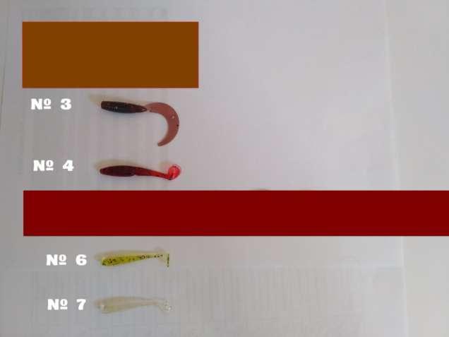 Силиконовые приманки твистера 10 шт.разные