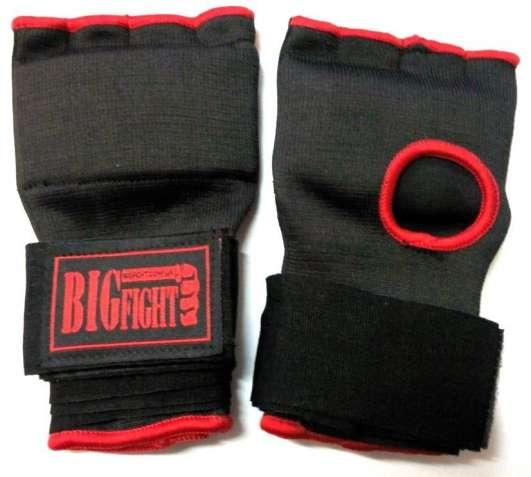 Бинты-накладки боксерские гелевые Bigfight , х/б, неопрен, пара