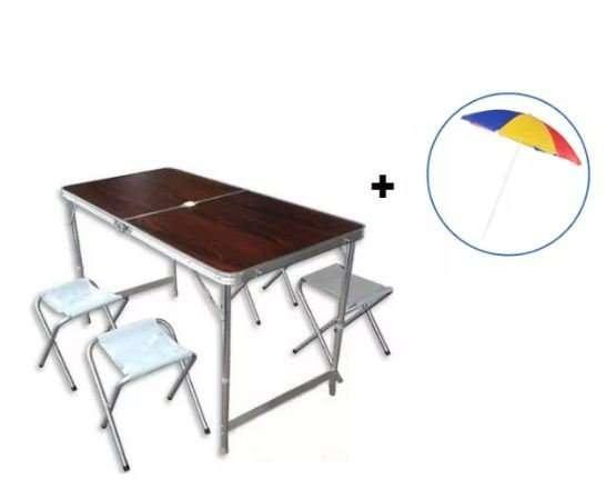 Раскладной стол для пикника SunRise + Зонт